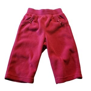 5/$25 Girls Red Fleece Pants 9 months
